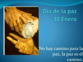 Dia  de la paz 30 Enero