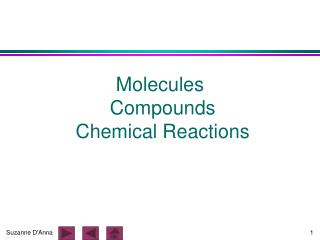 Molecules  Compounds  Chemical Reactions