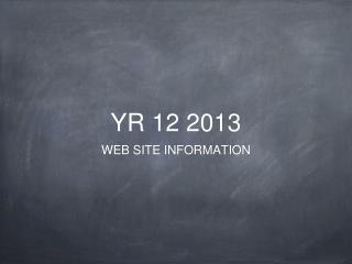 YR 12 2013