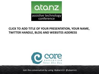 Click to add title of your presentation, your name, twitter handle, blog and websites address