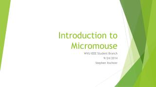 Introduction to  Micromouse