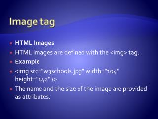 Image tag