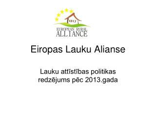 Eiropas Lauku Alianse