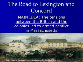 The Road to Lexington and Concord