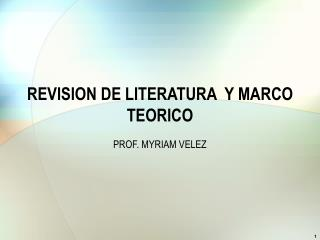 REVISION DE LITERATURA  Y MARCO TEORICO