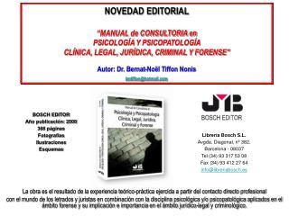 Librería Bosch S.L. Avgda. Diagonal, nº 382. Barcelona - 08037 Tel (34) 93 317 53 08