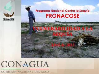 Programa Nacional Contra la Sequía PRONACOSE VULNERABILIDAD A LA SEQUÍA Abril  de 2013
