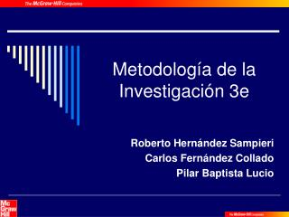 Metodología de la Investigación 3e