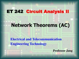 Network Theorems AC