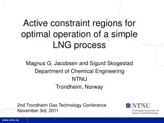 Active constraint regions for optimal operation of a simple LNG process