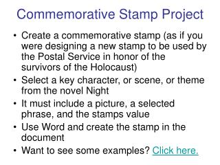 Commemorative Stamp Project