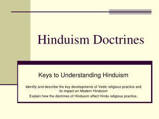 Hinduism Doctrines