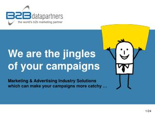 We are the jingles  of your campaigns