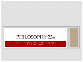 Philosophy 224