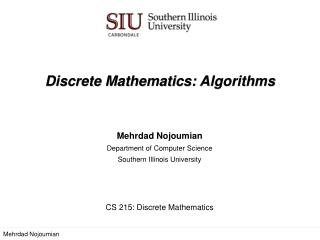 algorithm in discrete mathematics pdf
