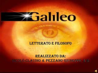 LETTERATO E FILOSOFO