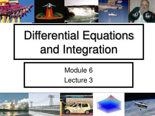 Differential Equations and Integration