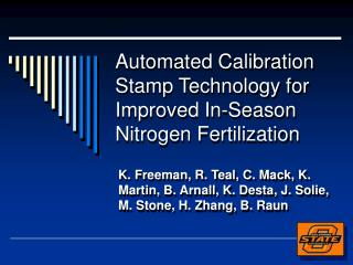 Automated Calibration Stamp Technology for Improved In-Season Nitrogen Fertilization