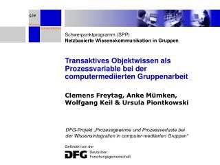 Transaktives Objektwissen als Prozessvariable bei der computermediierten Gruppenarbeit