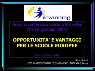 """Silvia Minardi LICEO CLASSICO STATALE """"S.QUASIMODO"""" – MAGENTA (Milano)"""