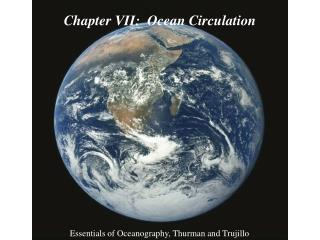 Chapter VII:  Ocean Circulation