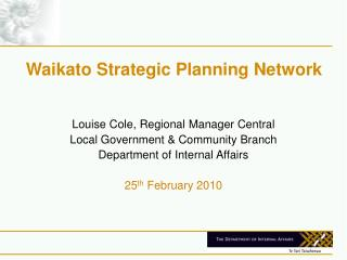 Waikato Strategic Planning Network