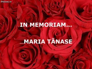 IN MEMORIAM ...