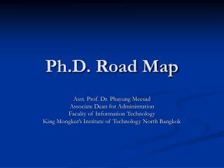 Ph.D. Road Map
