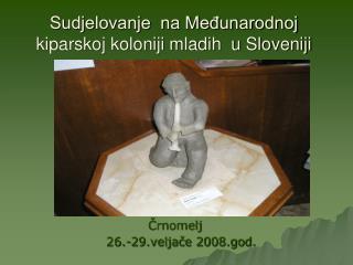 Sudjelovanje  na Međunarodnoj kiparskoj koloniji mladih  u Sloveniji