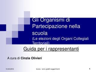 Gli Organismi di Partecipazione nella scuola (Le elezioni degli Organi Collegiali Territoriali)