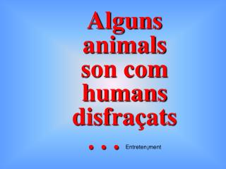 Alguns animals son com humans disfra�ats   . . .  Entreten�ment