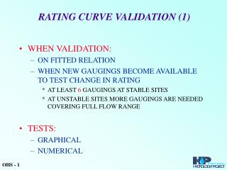 RATING CURVE VALIDATION (1)