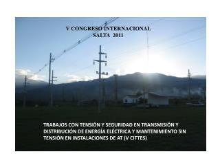 V CONGRESO INTERNACIONAL  SALTA  2011