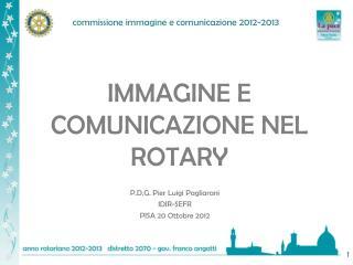 IMMAGINE E  COMUNICAZIONE NEL ROTARY