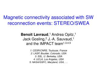 Magnetic connectivity associated with SW reconnection events: STEREO/SWEA