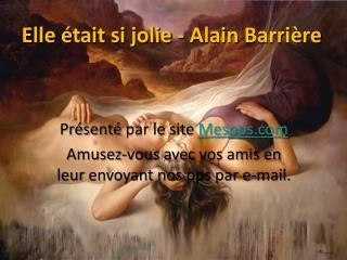 Elle  était si jolie - Alain  Barrière