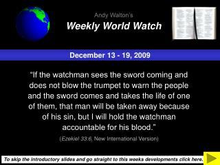 December 13 - 19, 2009