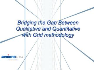 Bridging the Gap Between  Qualitative and Quantitative  with Grid methodology