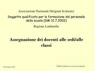 Associazione Nazionale Dirigenti Scolastici