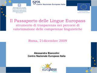 Alessandra Biancolini Centro Nazionale Europass Italia