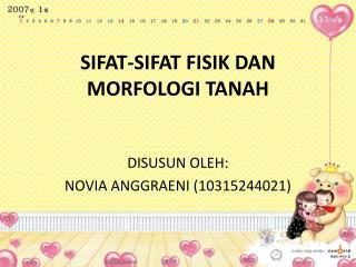 SIFAT-SIFAT FISIK DAN MORFOLOGI TANAH