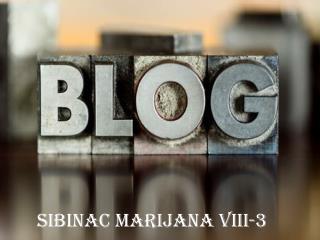 Sibinac Marijana VIII-3