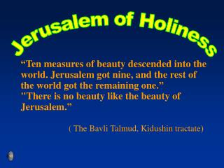 Jerusalem of Holiness