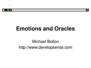 Emotions and Oracles