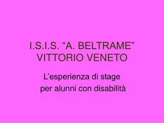 """I.S.I.S. """"A. BELTRAME"""" VITTORIO VENETO"""