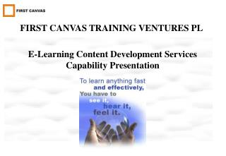 E-Learning Content Development Services Capability Presentation