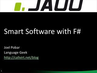 Smart Software with F  Joel Pobar Language Geek callvirt