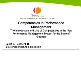 Competencies in Performance Management The Introduction and Use of Competencies in the New Performance Management System