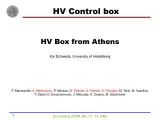 HV Control box