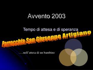 Avvento 2003